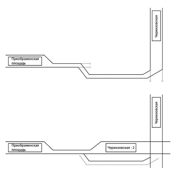 2. Вид по первому пути от станции Черкизовская (для понимания, где какой путь, можно использовать эту схему).